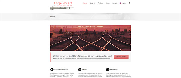 Website Forge Forward International by See Design
