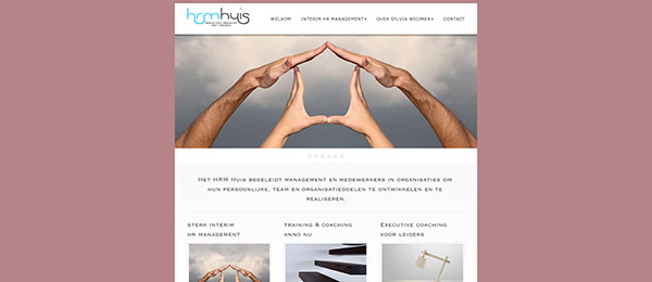 Website HRM Huis by See Design